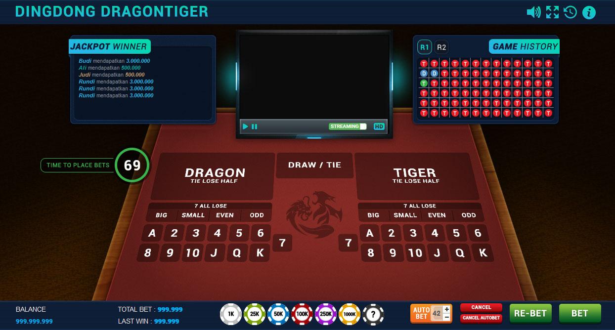 Panduan Cara Bermain Sicbo DingDong Dragon Tiger Di Casino Online
